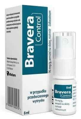 Bravera Control skin aerosol solution 96mg / g 8ml lidocaine UK
