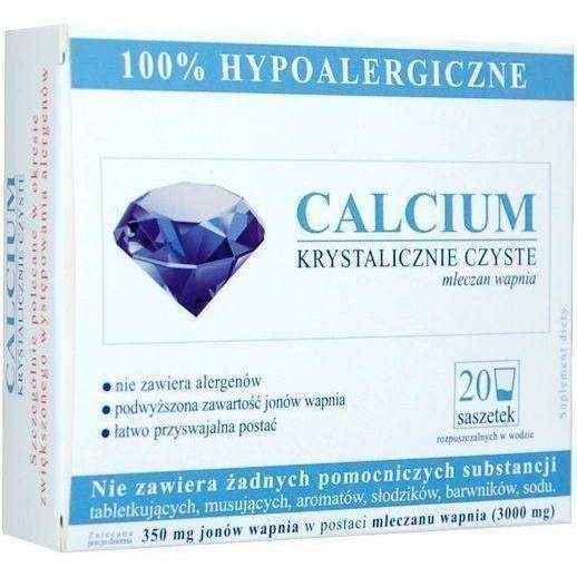 CALCIUM CRYSTAL CLEAN x 20 sachets, calcium deficiency