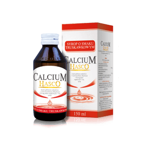 CALCIUM HASCO syrup with strawberry flavor 150ml Children up to 6 years UK