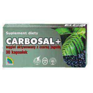CARBOSAL + Charcoal with black berries x 30 capsules