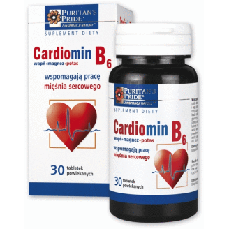 CARDIOMIN B6 x 60 tablets, myocardial infarction