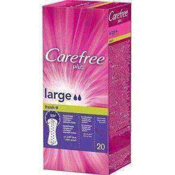 CAREFREE PLUS LARGE Fresh pads x 20 pieces