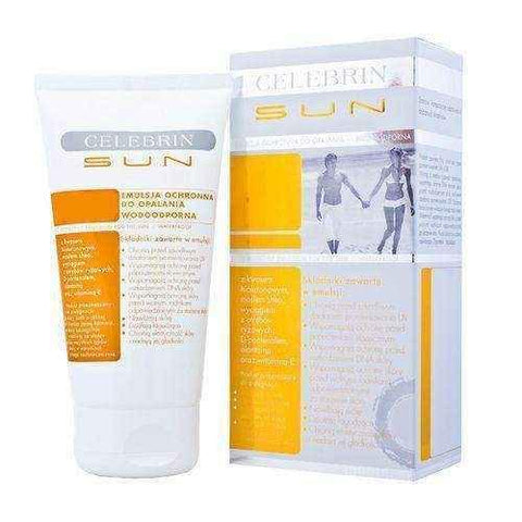 CELEBRIN SUN EMULSION Protective lotion SPF30 150ml, sunscreen lotion - ELIVERA UK, England, Britain, Review, Buy