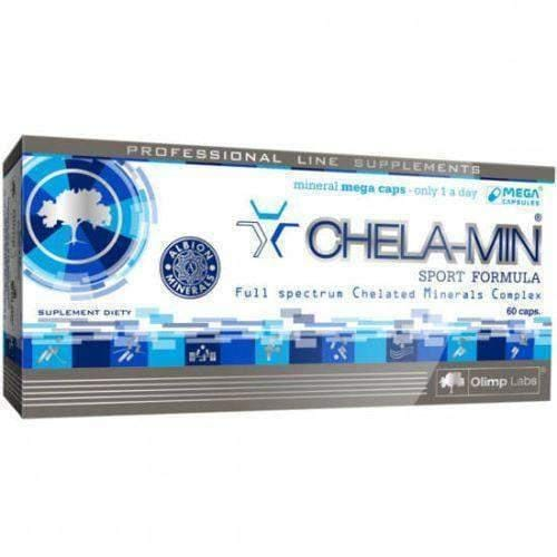 CHELA-MIN Sport Formula x 60 capsules  a patented formula of minerals