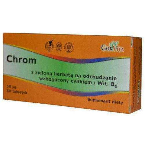 CHROME with green tea x 30 tablets, Chromium