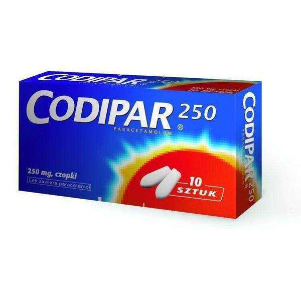 CODIPAR 250mg suppositories x 10, period pain relief