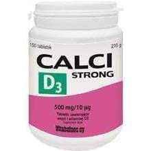 Calci Strong D3 x 150 tablets, calcium and vitamin d