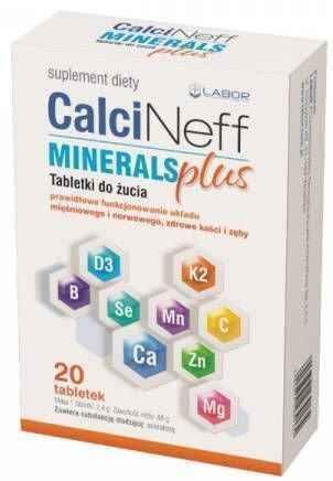 Calcineff Minerals Plus x 20 chewable tablets