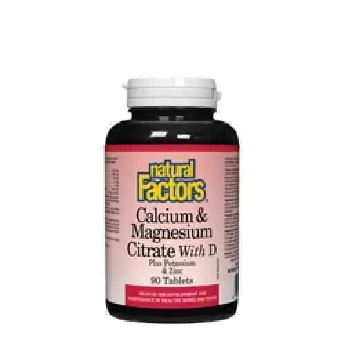 Calcium, Magnesium and Vitamin D + Potassium and Zinc 526 mg 90 capsules