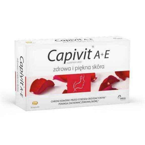 Capivit A + E Healthy and Beautiful Skin x 30 capsules.