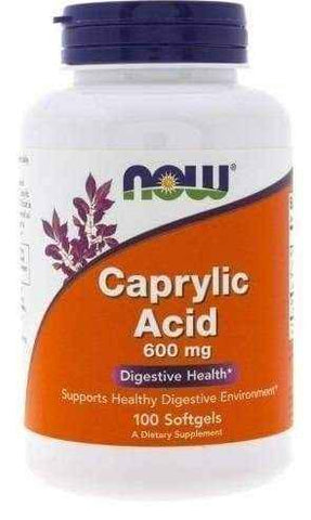 Caprylic Acid 600mg x 100 softgels capsules