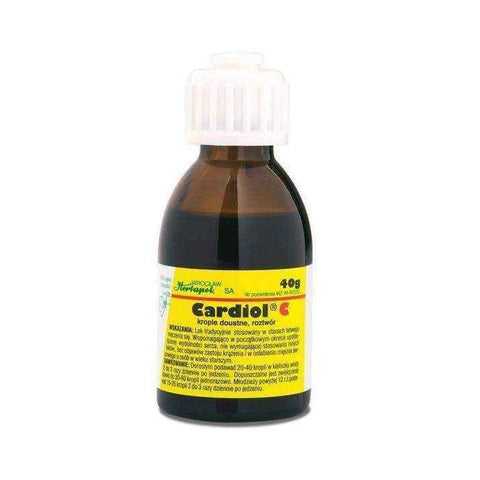Cardiol C drops 40g disorders of the heart, heart attack