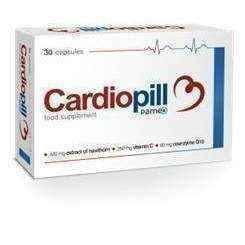 Cardiopill x 30 capsules, extract of hawthorn, blood circulation, coenzyme Q10