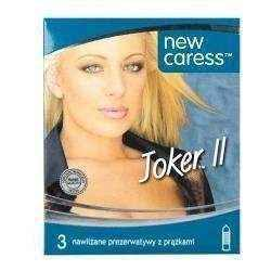 Caress Joker II Condoms ribbed x 3 pieces, ribbed condoms - Best Ribbed Condoms