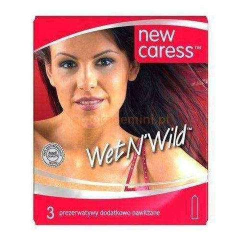 Caress Wet New Condoms lubricated x 3 pieces