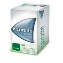 Classic NICORETTE gum 2mg x 105 treatment of tobacco dependence in smokers UK