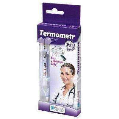 Classic medical thermometer x 1 piece, body thermometer