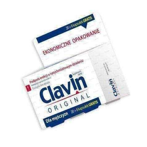Clavin x 20 Capsules + 8 capsules FREE, men with erections, ed problems, Epimedium sagittatum