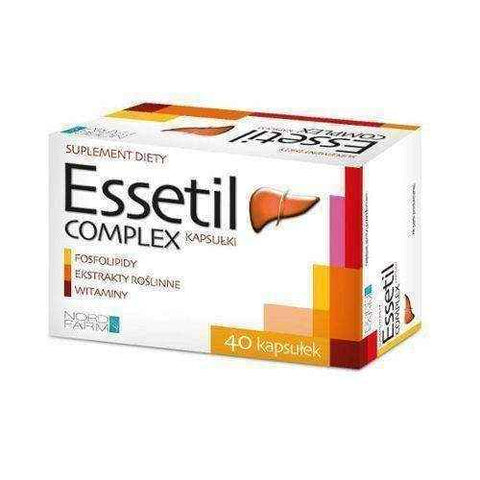 Complex ESSETIL x 40 capsules, fatty liver