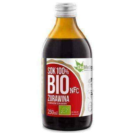 Cranberry juice BIO 100% 250ml, pure cranberry juice