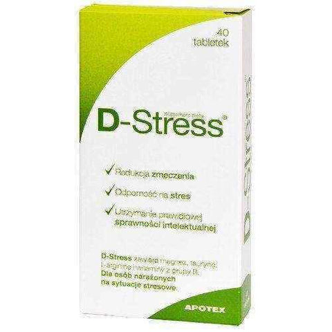 D-Stress x 40 tablets, anti stress