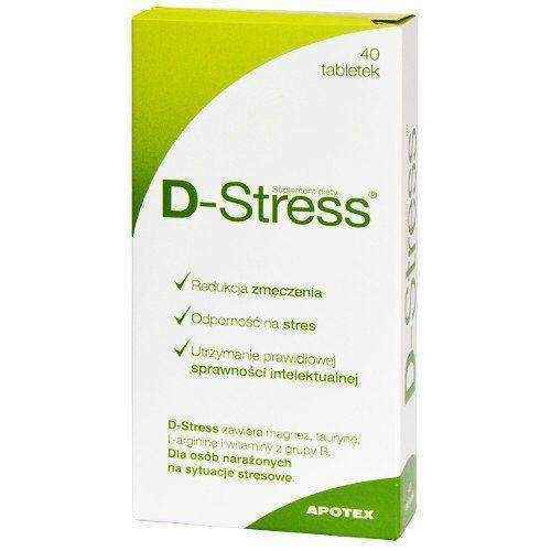 D-Stress x 40 tablets, cognitive impairment, mental disability