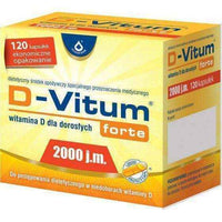 D-Vitum FORTE 2,000 IU of vitamin D for adults x 120 capsules, vitamin d deficiency symptoms UK
