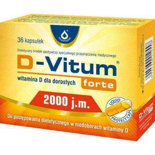 D-Vitum FORTE 2,000 IU of vitamin D for adults x 36 capsules, vitamin d deficiency