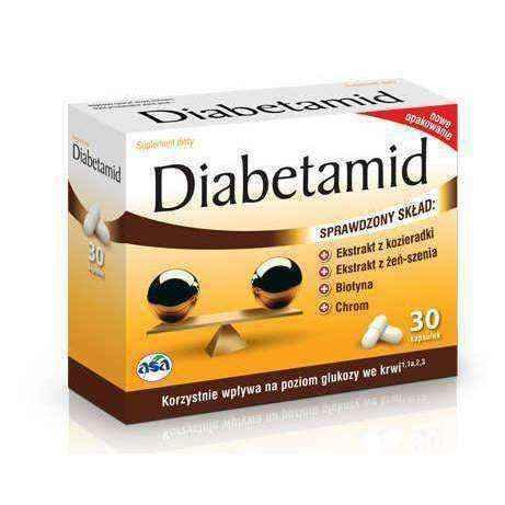 DIABETAMID x 30 capsules, normal blood glucose levels