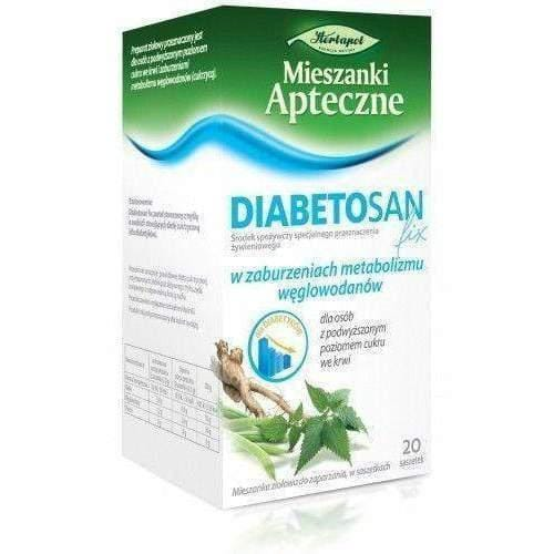 DIABETOSAN FIX x 20 sachets acts to lower blood sugar