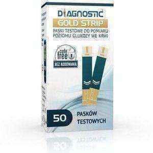 DIAGNOSTIC Gold Strip test strip x 50 pieces, blood glucose measurement