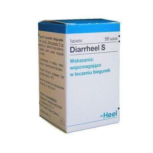 DIARRHEEL S x 50 tablets stomach and intestines, and alleviate symptoms of diarrhea