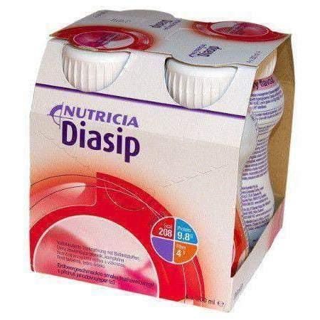 DIASIP Strawberry 200ml x 4 pieces adjunct to diet and impact on glycemic regulation in the body