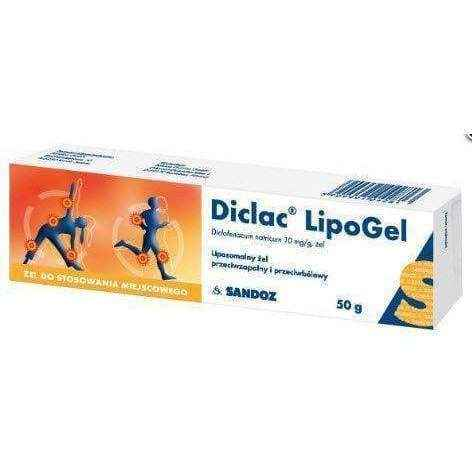DICLAC Lipogel 50g, joint pain relief Sandoz - ELIVERA UK, England, Britain, Review, Buy
