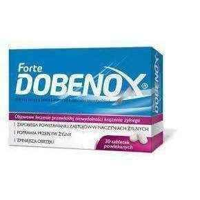 DOBENOX FORTE 500mg x 30 tablets, blood clot in leg, blood vessels UK