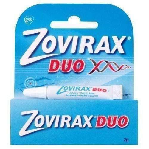 DUO ZOVIRAX cream 2g treatment of herpes of the lips and changes occurring on the face