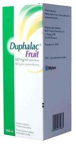 DUPHALAC FRUIT syrup 500ml.