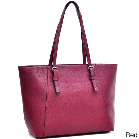 Faux leather tote bag | Red