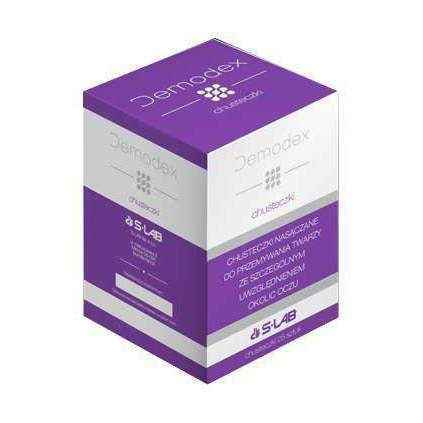 Demodex wipes x 25 pieces, vision care - ELIVERA UK, England, Britain, Review, Buy