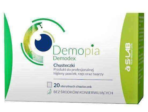Demopia Demodex wipes x 20 pieces