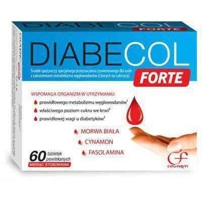 Diabecol Forte x 60 tablets white mulberry and numerous vitamins and nutrients for people with diabetes