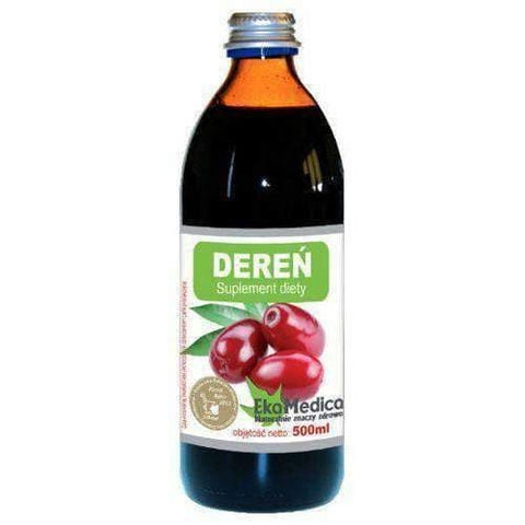 Dogwood fruit juice 100% 500ml helps to stimulate metabolism