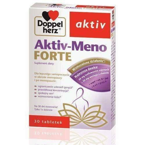 Doppelherz Aktiv Meno Forte x 30 tablets- Menopause usa-uk-worldwide UK