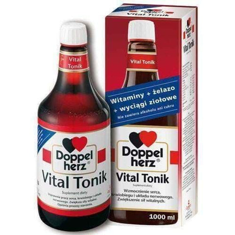 Doppelherz Vital Tonic 1000ml improves the functioning of the heart, circulation and nervous system, increases vitality, slows the aging process.