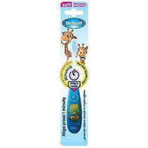 Dr. Scott toothbrush with timer for children over 3 years old x 1 unit - ELIVERA UK, England, Britain, Review, Buy