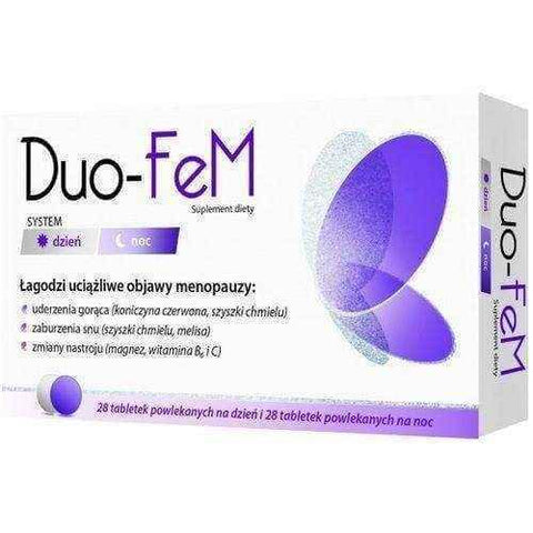 Duo-FeM x 28 tablets per day + 28 tablets at night UK