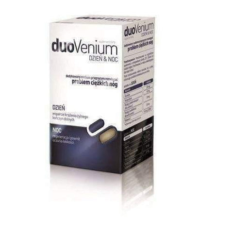 DuoVenium x 60 tablets (30 tablets per day + 30 tablets at night) venous stasis, leg pain causes