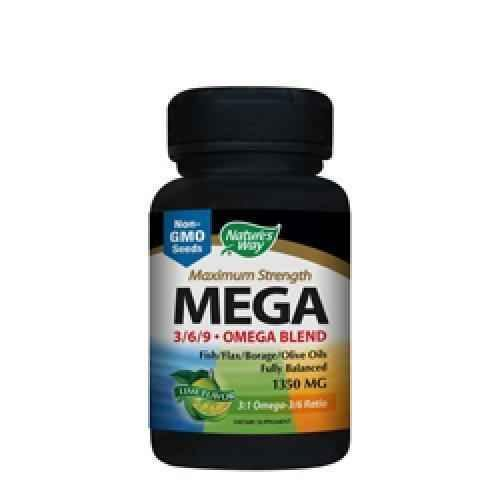 EFA MEGA Blend - Omega 3, 6 and 9, 1 350 mg 90 capsules.