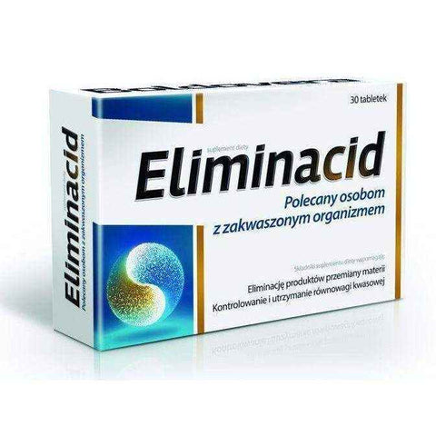 ELIMINACID x 30 tablets, high potassium, regulates exibits duretic
