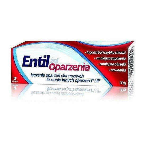 ENTIL gel for burns 30g, first aid for burns